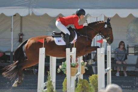 Lauren Billys & Ballingowan Ginger, 2nd in the CIC3* (photo by Sherry Stewart)