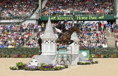 Lauren Kieffer rode Veronica to second place in the Rolex Kentucky Three-Day Event, presented by Land Rover. (Ben Radvani photo)