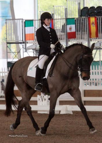 Canadian Madison Lawson, a former eventer injured in a riding mishap at age 13 when she stretched and fractured her spine has steel rods in her back, and is now fully committed to the Para program.