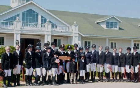 The participants of the 2013 Lendon Gray Youth Dressage Festival Midwest