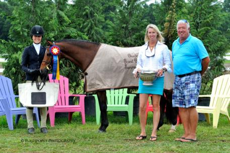 Lindsey Ayres and her pony Woodland's Pick Pocket received the Keith R.Nichols Memorial Perpetual Trophy. Flashpoint Photography