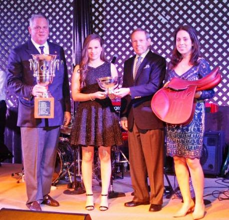 USET Foundation President S. Tucker S. Johnson, Katie Dinan, Brownlee O. Currey, Jr. Chairman of the Board, and Courtney Caverzasi, Hermes Equestrian Representative