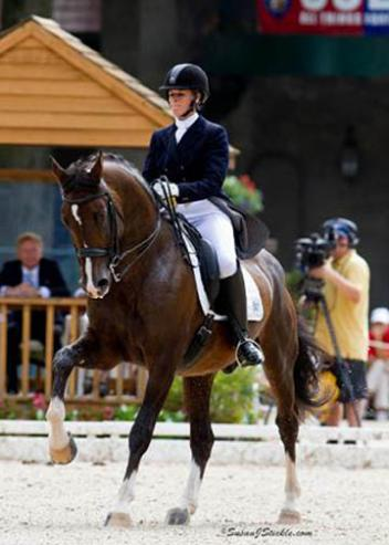 Elisabeth Austin of Williston, VT, and Olivier received this year's Anne L. Barlow Ramsay Annual ,000 Grant from the Dressage Foundation (Photo: SusanJStickle.com)