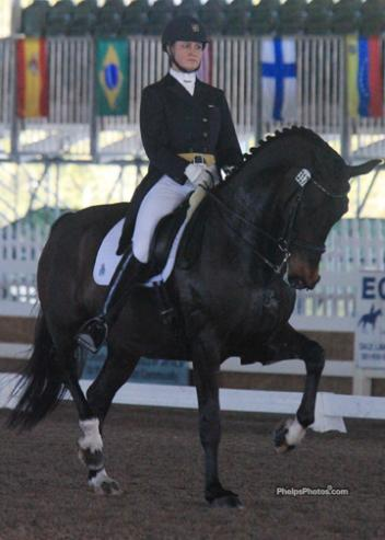 Adrienne Lyle and Wizard win the National Grand Prix Dressage test at the Gold Coast Opener. (Photo: Mary Phelps-phelpsphotos.com)