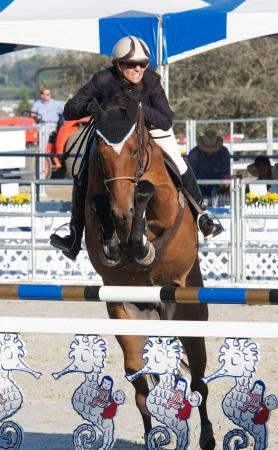 Marnye Langer and LEGIS Rockstar rock the 15,000 Seahorse Jumper Classic. Photo: LEG Up News file photo