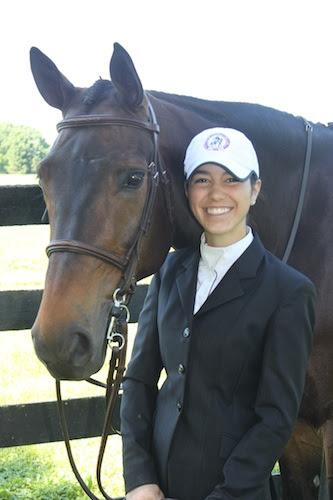 Mary Elizabeth Cordia, youth ambassador of the 2014 Washington International Horse Show, with her Warmblood gelding, Welcome, at the 2014 Upperville Colt & Horse Show. Photo © Emily Ambach.