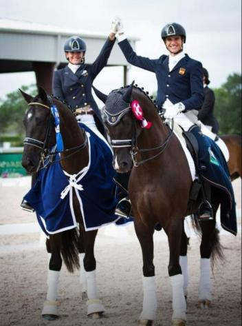 Paula Matute and Juan Matute at the 2014 Adequan Global Dressage Festival. (Photo courtesy of Maria Guimon)