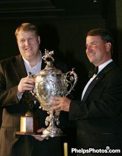 Tom McCutcheon presented 2010 USEF Equestrian of the Year by USEF president David O'Connor