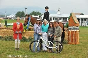 Megan MacPherson after winning the Kathy Scholl Equitation Classic.