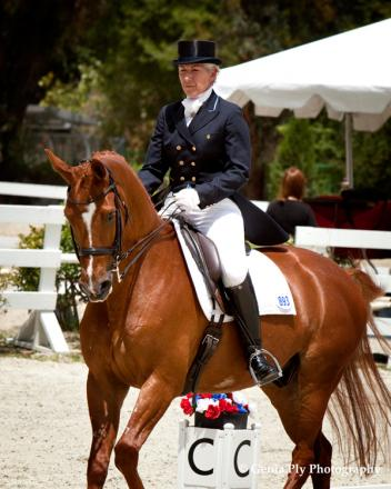"Mette Rosencrantz (USA) and Anne Solbraekke's Danish Warmblood gelding ""Mosegaards Rico (Photo: Genia Ply Photography)"