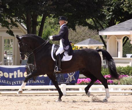Mette Rosencrantz, dressage rider and trainer, sponsored by Custom Saddlery, makers of handcrafted custom-fit dressage, jumping and event saddles. Photo: Anna Dahlberg