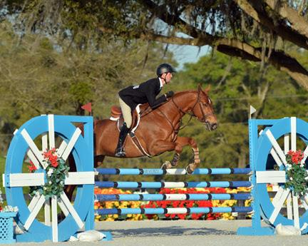 Michael Hughes topped both rounds of the HITS Equitation Championship to win aboard Landis. ©ESI Photography