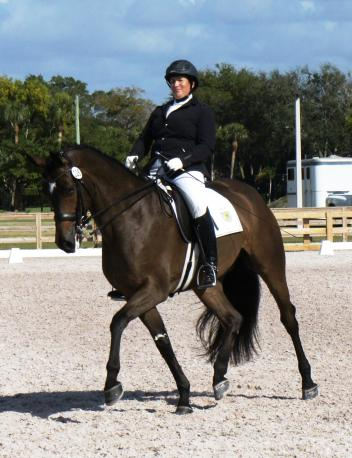 Michelle Gibson and the nine-year-old Chica H (Chicos Boy X World Cup)  Photo: Betsy LaBelle