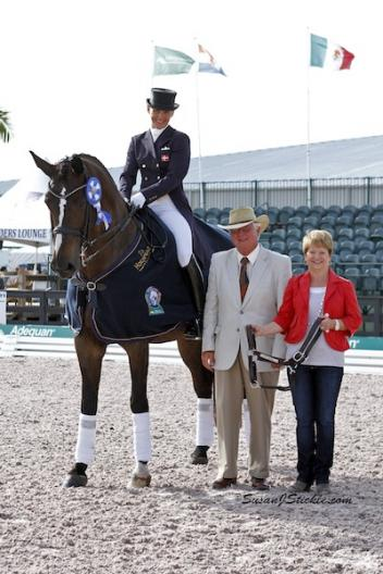 Mikala Munter Gundersen and My Lady with judge Axel Steiner and Terri Kane of Diamante Farms. Photo © SusanJStickle.com