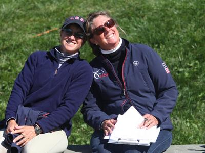 Missy Ransehousen Para-Equestrian Coach with Sharon Schneideman who has assitisted the US Para Team, at the Para-Equestrian CPEDI 3* in Saugerties, NY. (photo: Mary Phelps-phelpsphotos.com)