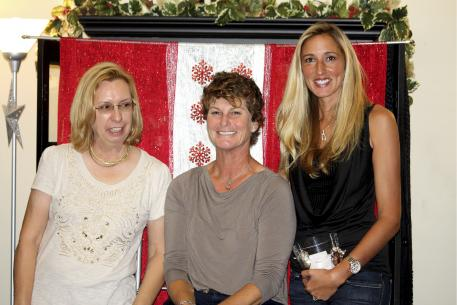 From left to right, Michele Hundt, Leslie Morse, and Krystalanne Shingler