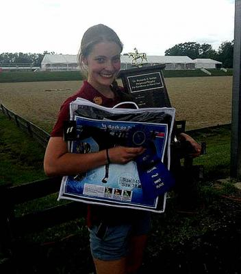 Nathalie Ferneau won the Horse Management Challenge at the Lendon Youth Dressage Festival