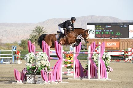 Nayel Nassar and Lordan jump to a win in the ,500 FEI HITS Desert Classic, presented by Zoetis, at HITS Thermal. ©Flying Horse Photography