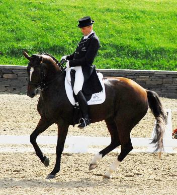 Denmark's Lars Petersen rode Mariett to victory in the CDI Grand Prix Freestyle at the New England Dressage Association's Fall Festival of Dressage. Photo: Lynndee Kemmet