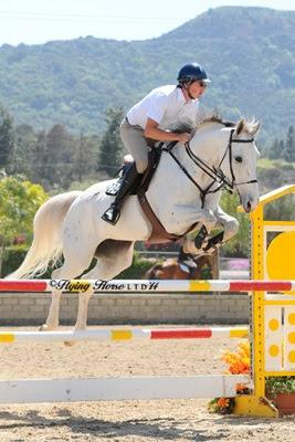 Nicholas Rossi and Agness clean up in the 1.20M Jumpers. Photo: Flying Horse Photography