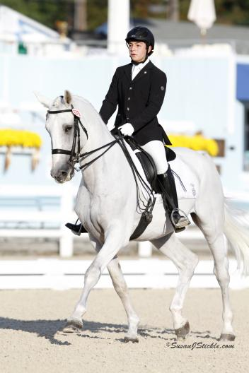 Colombian dressage rider Nicholas Torres Rodriguez and Silver Label won the FEI Junior Individual Test as well as the FEI Junior Freestyle with a 71.575. (Photo: SusanJStickle.com)