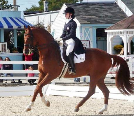 Nicole DelGiorno one of the four young riders that has been selected for the 2012 Olympic Dream Program