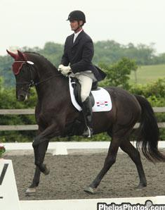 Jules Nyssen and Allegro win the reserve championship at the Markel/USEF Dressage Eastern Selection Trial for 6-year-olds