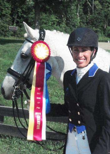 Jovanna Stepan and Erin Meadows Oke Doke in the East Coast Rider's Cup competition for Intermediate I