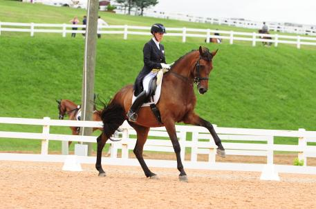 Olivia Lagoy-Weltz and Rassings Lonoir at Dressage at Lexington. (Photo: courtesy of WN Photography)