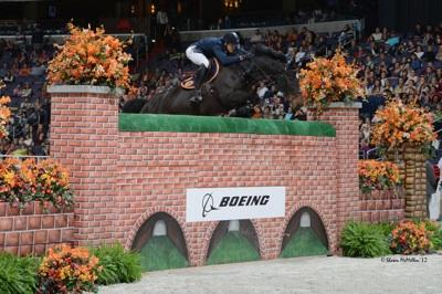 Olivier Philippaerts and Chicago VD Moleneind, last year's winners of the ,000 Puissance sponsored by The Boeing Company. Photo © Shawn McMillen Photography.