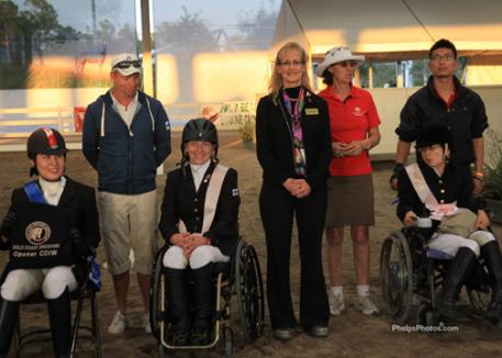 Dressage show organizer (center) Noreen O'Sullivan  brought Para Dressage competition in Florida to a new level.
