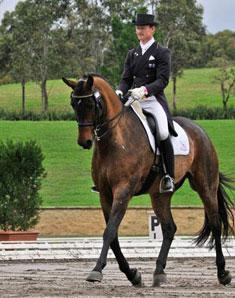 Brett Parbery on Victory Salute won with a great score (Picture Franz Venhaus)