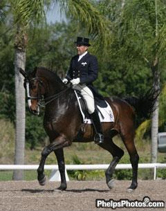 Cesar Parra and Michael Davis's Grandioso Won the Intermediaire II Open at Dressage at Equestrian Estates
