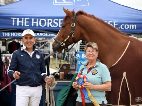 Dr. Cesar Parra rode Lindner, owned by Michael Davis and his family, to the highest score at the Wellington Classic Dressage Sunshine Challenge. The high score helped Parra and Lindner take home The Horse of Course High Score Award, sponsored by The Horse of Course, Inc.