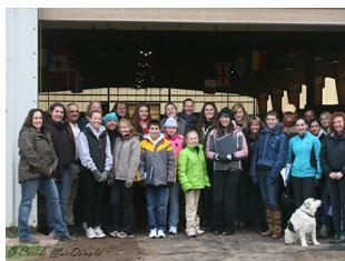 "Participants in the 2010 Dressage4kids ""Young Sport Horse Breeders"" (Photo Carole MacDonald)"
