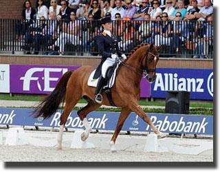 Adelinde Cornelissen and Jerich Parzival (Picture FEI/Peter Nixon)