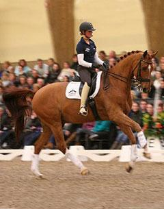 Jerich Parzival and Adelinde Cornelissen were the highlight of the renowned 13th KNHS trainer Seminar in Ermelo (Photo Marjon Hoen for dressagedirect)