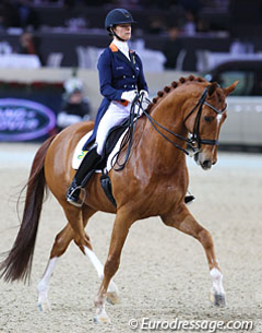 Defending World Cup Campions Adelinde Cornelissen and Parzival (Photo: Eurodressage.com)
