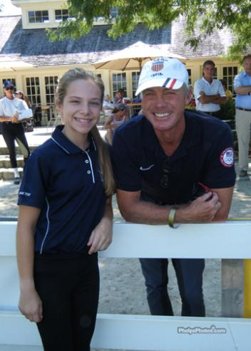 Emma Patterson met Jan Ebeling at the 2012 USEF Dressage Seat Medal Finals following the Olympics where Emma attended and saw Jan compete.