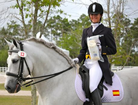 Paula Matute won the Custom Saddlery Young Ambassador Award at the Wellington Classic Challenge II CDIW. Sponsored by Custom Saddlery. The Young Ambassador Award is presented to a junior rider who is a good ambassador for the sport of dressage.