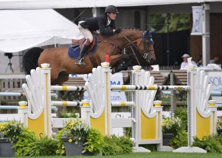 Peter Lutz rode Adarose to win section A of the 10,000 Newsday Open Jumper at the Hampton Classic. (Shawn McMillen photo)