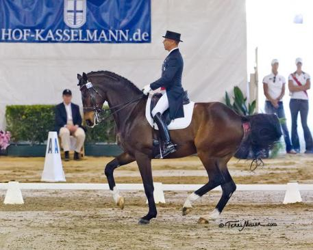 Steffen Peters and Legolas in winning form at the Mid-Winter Dressage Fair CDI-W.  (Photo: Terri Miller)