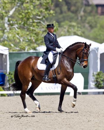 Steffen Peters and Legolas 92 dance to  an impressive Grand Prix Freestyle win at the Festival of the Horse CDI 3*.  Photo: Terri Miller