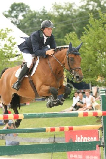 Olympic gold medalist Peter Wylde guided Lewin 5 to victory in the ,000 Vermont Summer Special Grand Prix on July 6 at the Vermont Summer Festival in East Dorset, VT. David Mullinix Photography