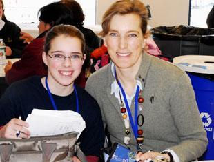 Martina Poblotzki and her daughter Julia traveled from Delaware to attend the Equestrian Educational Weekend