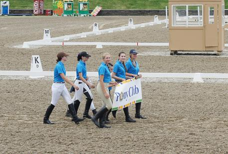 2013 Pony Club Teams - seven youth participated in the Lendon Dressage Youth Festival and raised funds for the event  Photo: Betsy LaBelle