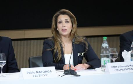 FEI President HRH Princess Haya at the Extraordinary General Assembly which took place on 29 April 2014 in Lausanne (SUI). © Germain Arias-Schreiber/FEI