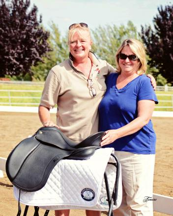 Schleese saddle donated by Schleese Saddlery to collect scholarship money for CDS Club 100 Young Riders