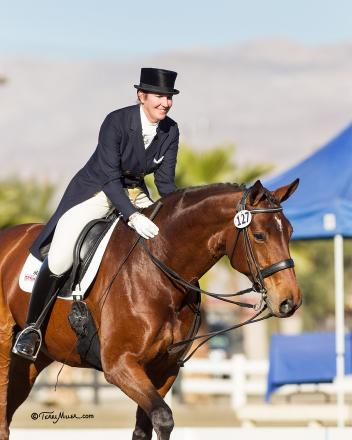 U.S. Dressage Team hopeful Kathleen Raine and Breanna are ready to compete at this weekend's Mid-Winter Dressage Fair CDI in California.  Photo: Terri Miller