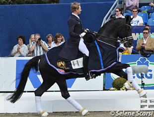 Matthias Rath and Totilas with the Grand Prix for Kur at the 2012 CDI Hagen(Photo: © Selene Scarsi)